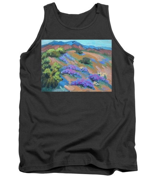 Tank Top featuring the painting Borrego Springs Verbena by Diane McClary