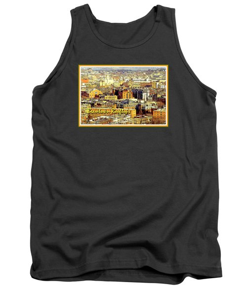 Tank Top featuring the digital art Boston Beantown Rooftops Digital Art by A Gurmankin