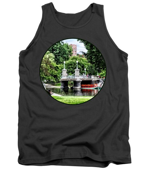 Boston Ma - Boston Public Garden Bridge Tank Top