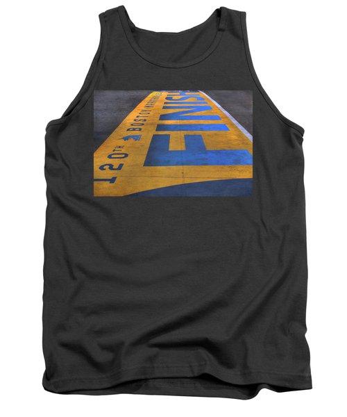 Boston Marathon Finish Line Tank Top by Joann Vitali