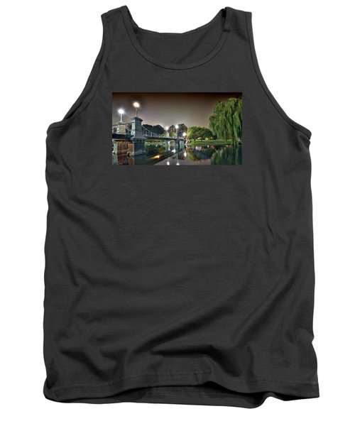 Boston Public Garden - Lagoon Bridge Tank Top by Brendan Reals