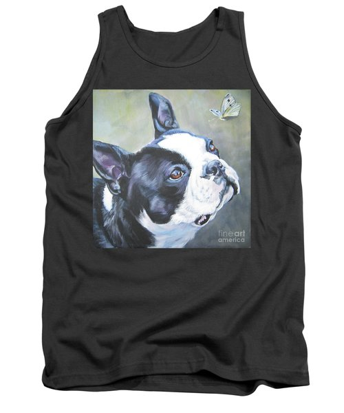boston Terrier butterfly Tank Top