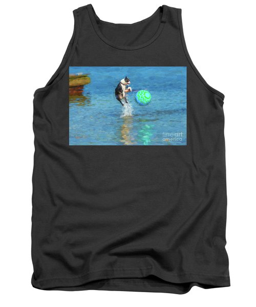 Boston Terrier Jump - Painterly Tank Top
