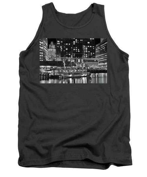 Tank Top featuring the photograph Bostonian Black And White by Frozen in Time Fine Art Photography