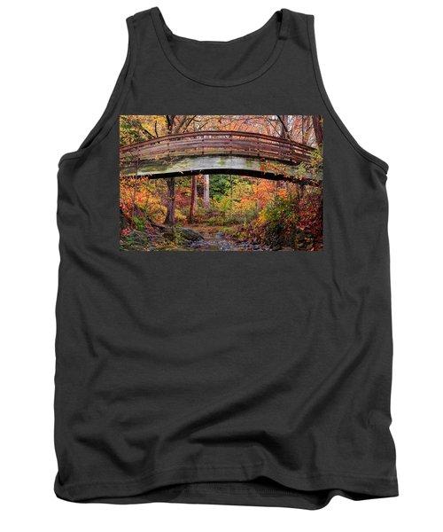 Botanical Gardens Arched Bridge Asheville During Fall Tank Top