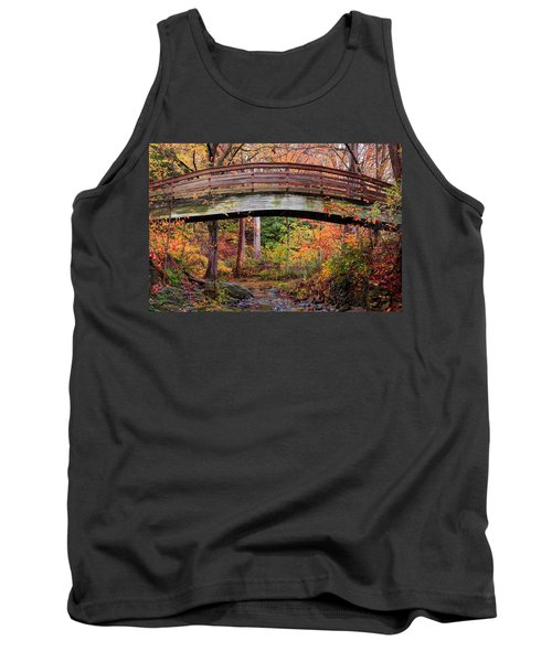 Botanical Gardens Arched Bridge Asheville During Fall Tank Top
