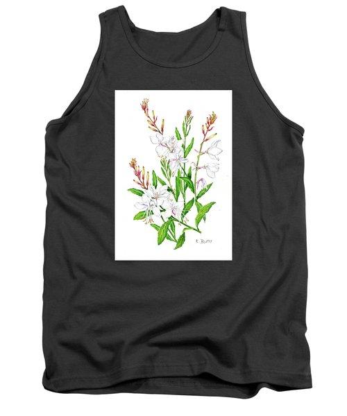 Botanical Illustration Floral Painting Tank Top