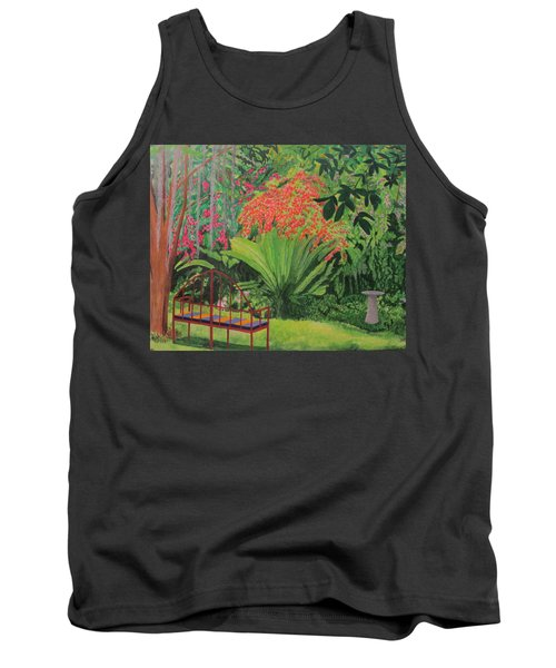 Tank Top featuring the painting Bougainvillea Garden by Hilda and Jose Garrancho