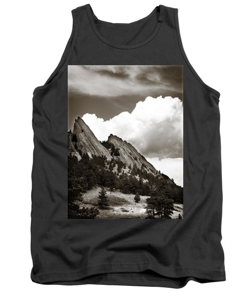 Large Cloud Over Flatirons Tank Top by Marilyn Hunt