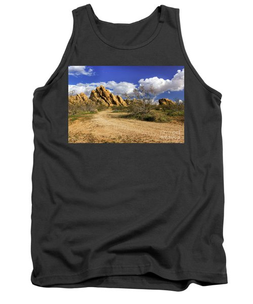 Boulders At Apple Valley Tank Top by James Eddy