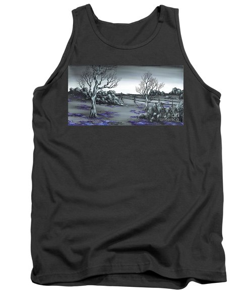 Tank Top featuring the painting Boundry Fence. by Kenneth Clarke