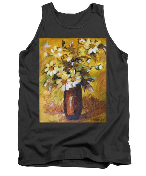 Bouquet Flowers Of Gold Tank Top