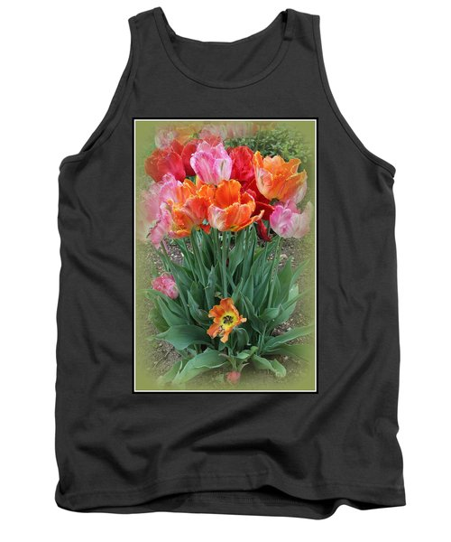 Bouquet Of Colorful Tulips Tank Top by Dora Sofia Caputo Photographic Art and Design