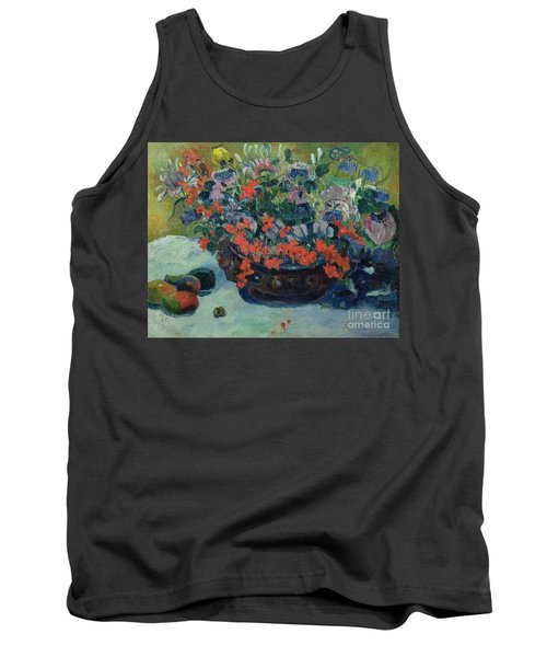 Bouquet Of Flowers Tank Top by Paul Gauguin