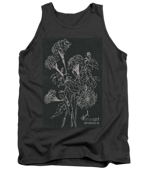 Tank Top featuring the painting Bouquet Of Flowers  by Vicki  Housel