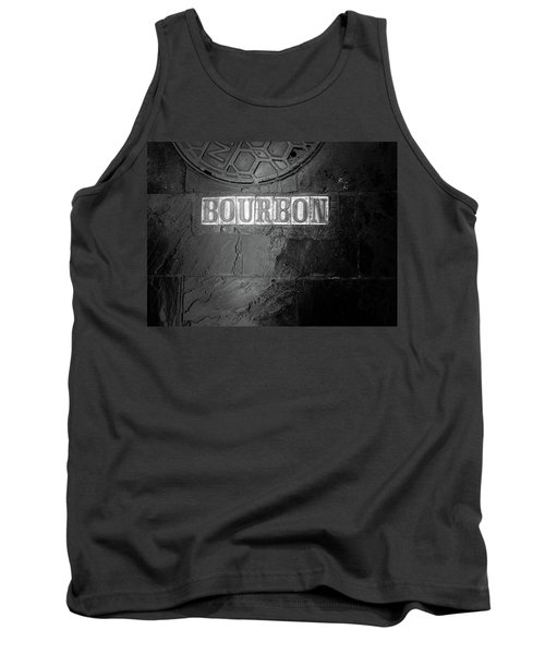 Bourbon In Black And White Tank Top