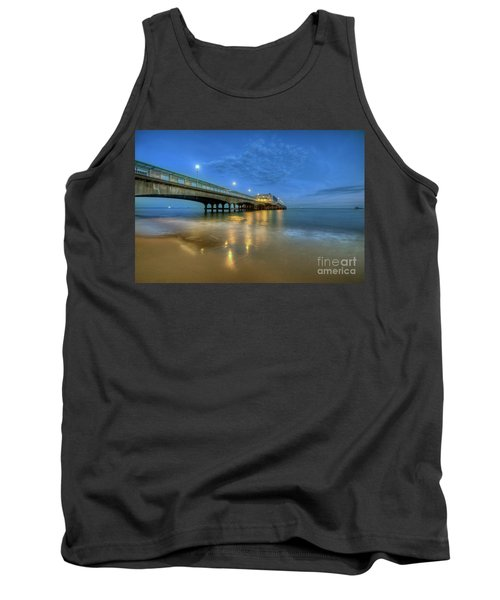 Tank Top featuring the photograph Bournemouth Pier Blue Hour by Yhun Suarez