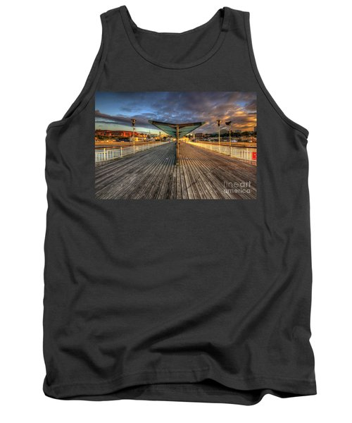 Tank Top featuring the photograph Bournemouth Pier Sunrise 2.0 by Yhun Suarez