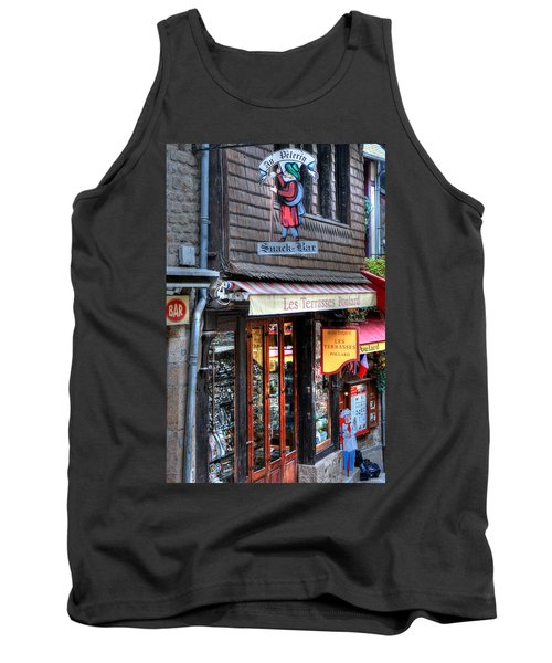 Tank Top featuring the photograph Boutique Les Terasses Poulard by Tom Prendergast