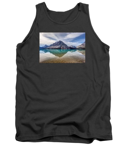 Bow Lake Reflection From Num-ti-jah Lodge  Tank Top