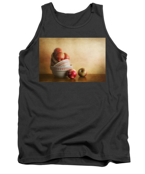 Bowls And Apples Still Life Tank Top by Tom Mc Nemar