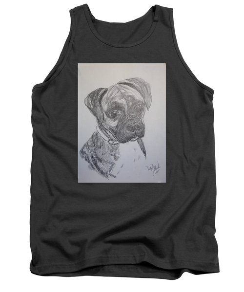 Tank Top featuring the drawing Boxer by Marilyn Zalatan