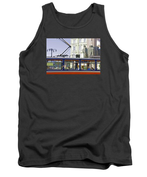 Tank Top featuring the photograph Bratislava Trolley by Dennis Cox WorldViews