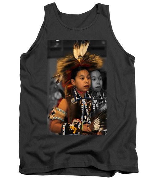 Brave And His Shadow Tank Top by Audrey Robillard
