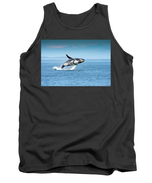 Breaching Humpback Whales Happy-4 Tank Top