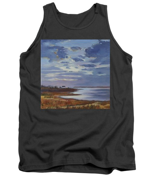 Breaking Up The Clouds Tank Top by Trina Teele