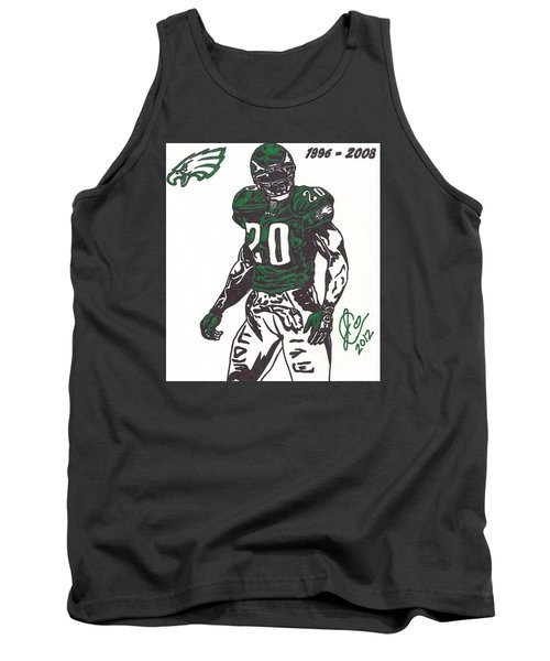 Tank Top featuring the drawing Brian Dawkins 3 by Jeremiah Colley