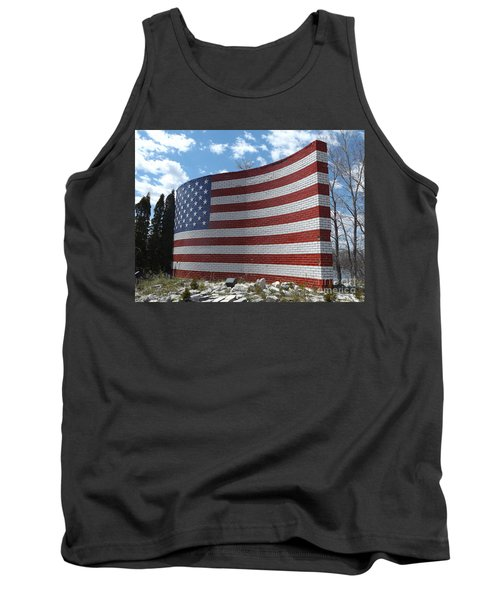 Brick American Flag Tank Top
