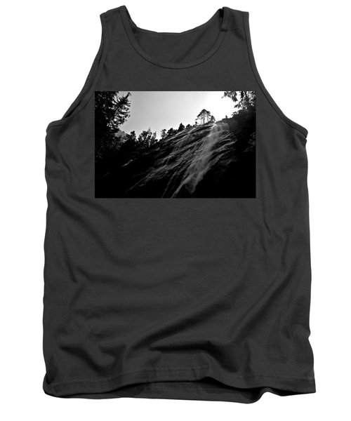 Bridal Veil Falls In Black And White Tank Top