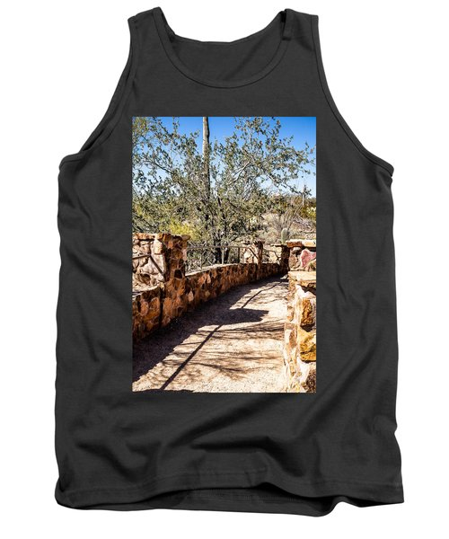 Bridge Over Desert Wash Tank Top by Lawrence Burry