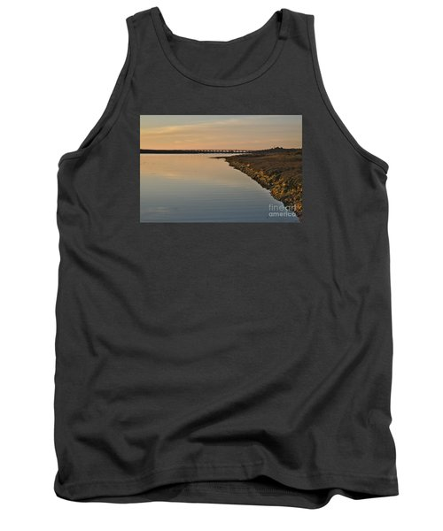 Bridge And Ria At Sunset In Quinta Do Lago Tank Top by Angelo DeVal