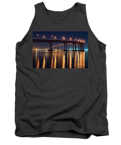 Tank Top featuring the photograph Bridge Bedazzled by Dan McGeorge