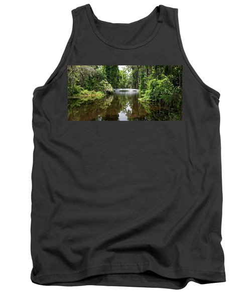 Tank Top featuring the photograph Bridge In The Garden by Sandy Keeton