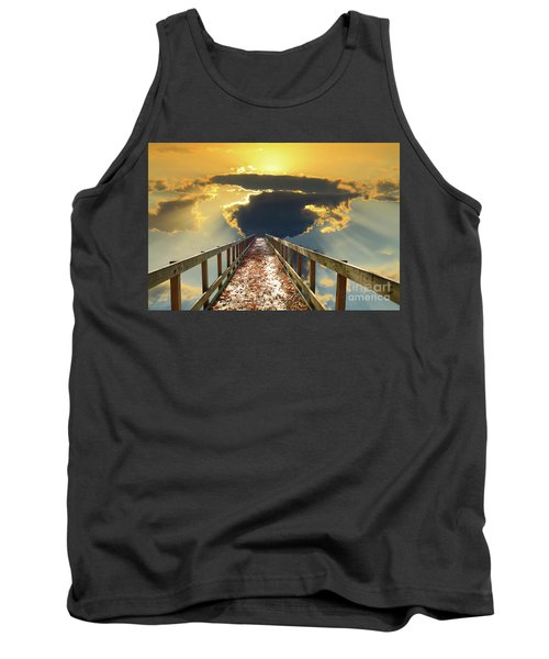 Bridge Into Sunset Tank Top by Inspirational Photo Creations Audrey Woods