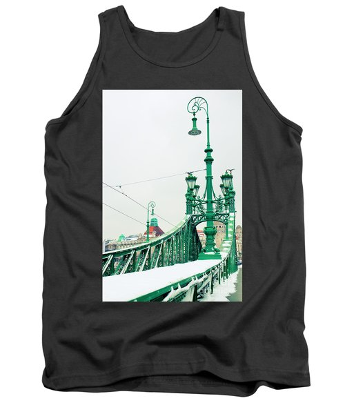Bridge Of Liberty In Budapest Tank Top by Anastasy Yarmolovich