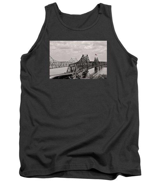 Bridges At Vicksburg Mississippi Tank Top by Don Spenner