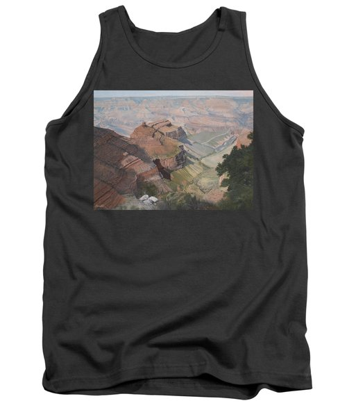 Bright Angel Trail Looking North To Plateau Point, Grand Canyon Tank Top by Barbara Barber