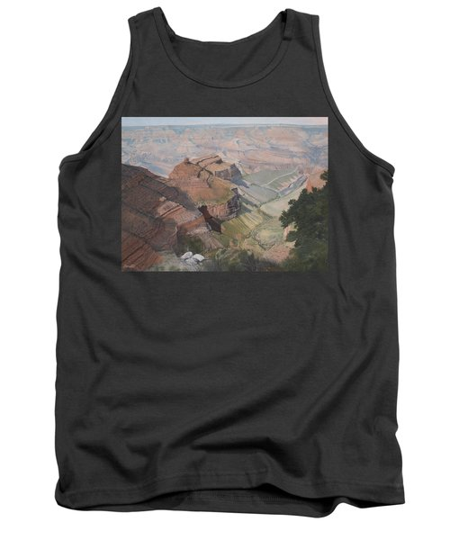 Bright Angel Trail Looking North To Plateau Point, Grand Canyon Tank Top