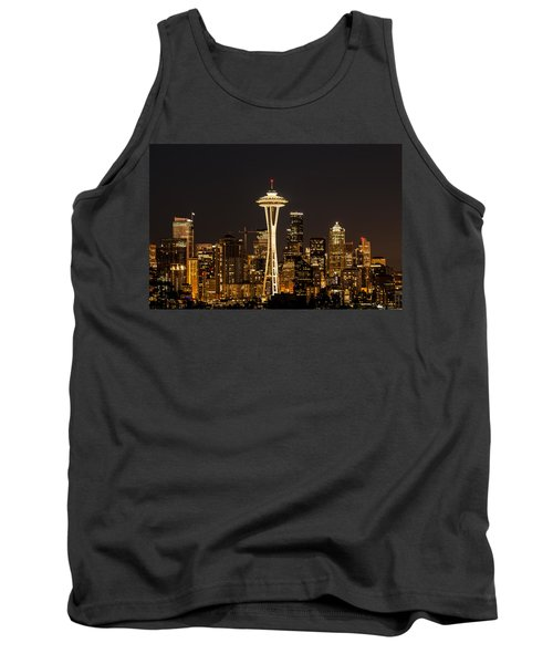 Bright At Night - Space Needle Tank Top by E Faithe Lester