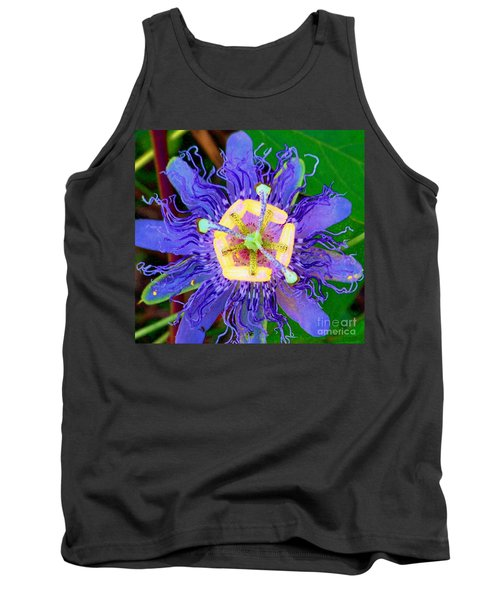 Brilliant Blue Flower Tank Top