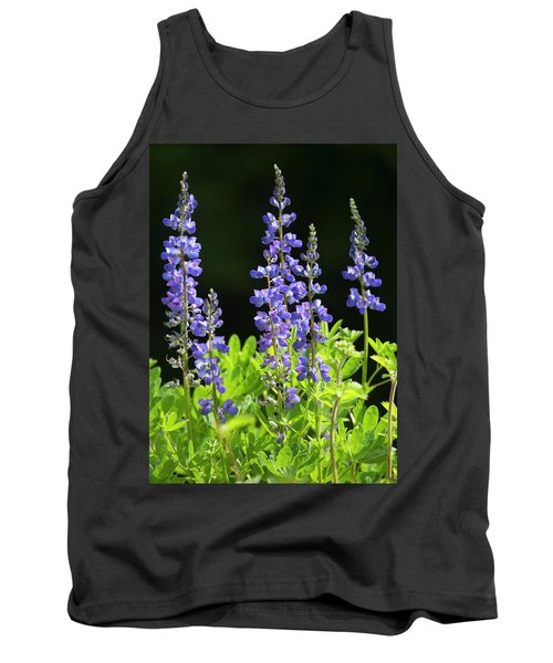 Tank Top featuring the photograph Brilliant Lupines by Elvira Butler