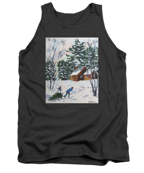 Bringing In The Tree Tank Top by David Gilmore