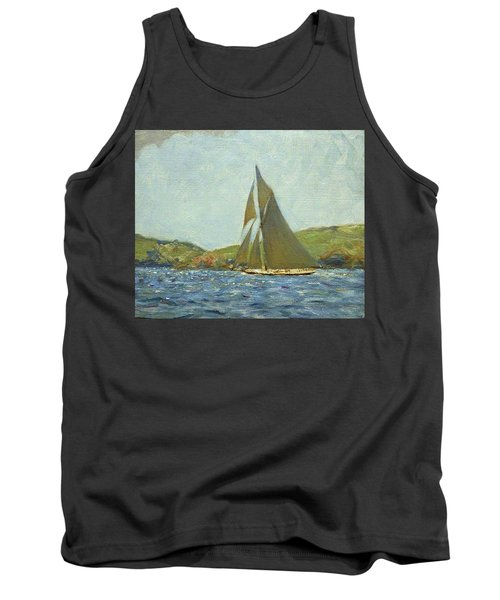 Tank Top featuring the painting Britannia by Henry Scott Tuke