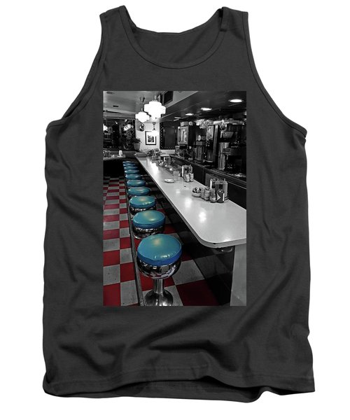 Broadway Diner Chairs Tank Top by Christopher McKenzie