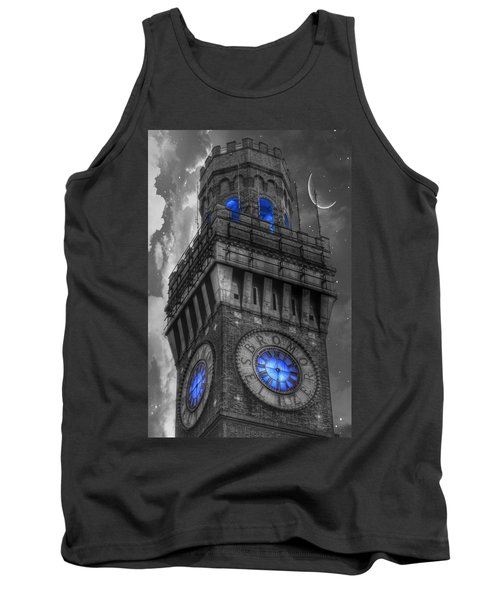 Bromo Seltzer Tower Baltimore - Blue  Tank Top