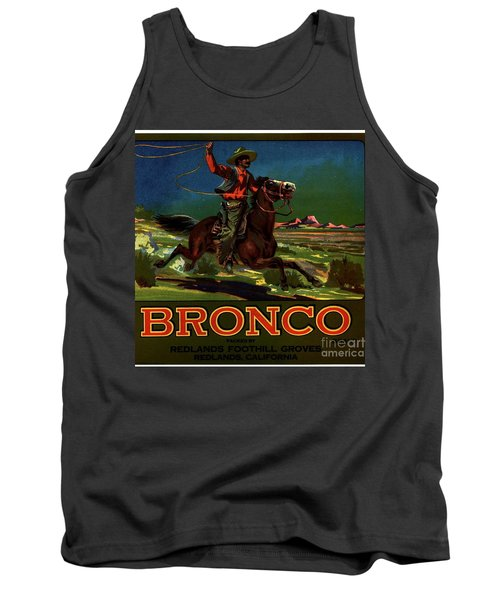 Tank Top featuring the digital art Bronco Redlands California by Peter Gumaer Ogden